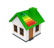 House with Energy Efficiency Level. Isolated on white background. 3D render Royalty Free Stock Images