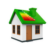 House with Energy Efficiency Level. Isolated on white background. 3D render Royalty Free Stock Image