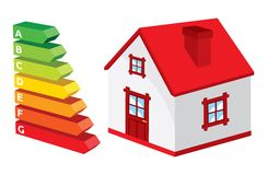 House energy efficiency rating. Vector of the house energy efficiency rating Royalty Free Stock Images