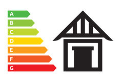 House energy efficiency rating Stock Image