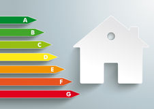 House Energy Pass PiAd. Three white location markers on the grey background. Eps 10  file Royalty Free Stock Image