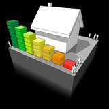 House with energy rating diagram Stock Photography
