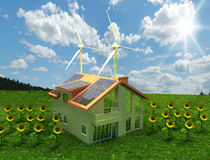 House energy saving concept Royalty Free Stock Images