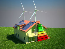 House energy saving concept Stock Image