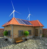 House energy saving concept. Isolated royalty free stock image