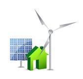 House energy saving concept Royalty Free Stock Photos