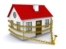 House enmeshed a golden chain Stock Photos