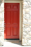 House Entrance. Close up of an entrance of a brand new house Stock Photo