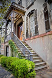 House entrance. Entrance to a southern styled home Royalty Free Stock Images
