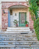 House entrance, Athens Greece Stock Photo