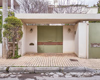 House entrance, Athens Greece Stock Image