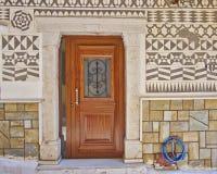 House entrance, Chios island, Greece Stock Photos