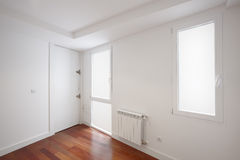 House entrance corridor with white walls Royalty Free Stock Image