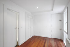 House entrance corridor with white walls Royalty Free Stock Photography