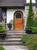 House entrance with flagstone steps Stock Image
