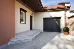 House entrance and garage Royalty Free Stock Images