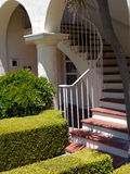House entrance with round lines and stairs Stock Photography
