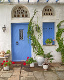 House entrance, Tinos island, Greece Royalty Free Stock Photo