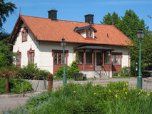 House at the Entrance to Tradgardsforeningen. Linkoping. Sweden Stock Photos