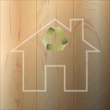 House of environmental materials Royalty Free Stock Photos