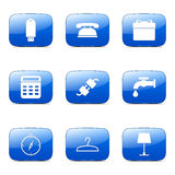 House Equipments Square Vector Blue Icon Royalty Free Stock Images
