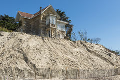 House Erosion at Beach Royalty Free Stock Image