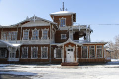 The house on the estate. Historic house, located at the Sukachev's manor. The Museum of the city of Irkutsk Royalty Free Stock Image
