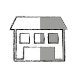 house esterior isolated icon Royalty Free Stock Images
