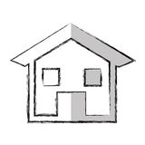 house esterior isolated icon Royalty Free Stock Photography