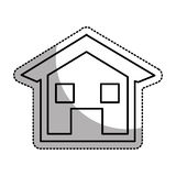 house esterior isolated icon Stock Image