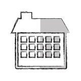 house esterior isolated icon Stock Photography
