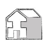house esterior isolated icon Royalty Free Stock Image
