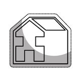 house esterior isolated icon Royalty Free Stock Photos
