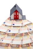 House and euro banknotes Royalty Free Stock Photo