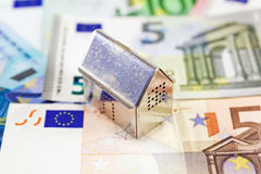 House on euro banknotes Stock Photo