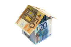 House from euro bills Royalty Free Stock Photos