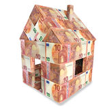 House with 10 euro bills Royalty Free Stock Image