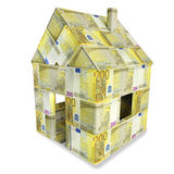 House of 200 euro bills Stock Photography