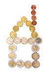 House of euro coins Royalty Free Stock Images