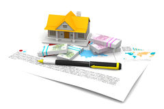 House and euro Royalty Free Stock Image