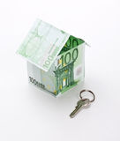 House of euro and key Royalty Free Stock Image