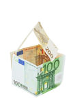 House from Euro Money. Royalty Free Stock Images
