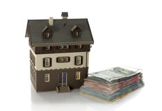 House with euro money Royalty Free Stock Images