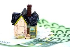 House and Euro money concept Stock Photos