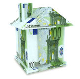 House euro from the money Stock Photos