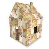 House from 50 Euro notes Stock Image