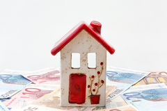 House with Euro notes Royalty Free Stock Photography