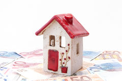 House with Euro notes Royalty Free Stock Image