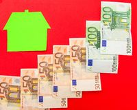 House and euros Stock Images