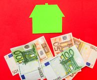 House and euros Royalty Free Stock Image